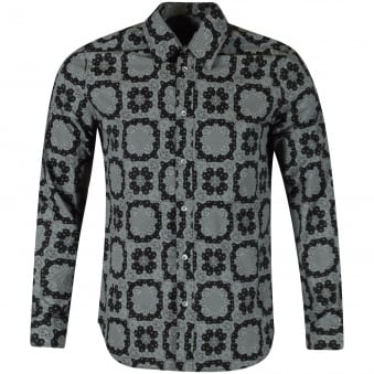 Vivienne Westwood Navy Print Button Up Shirt