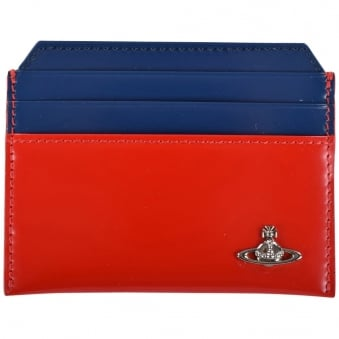 Vivienne Westwood Red & Blue Patent Card Holder