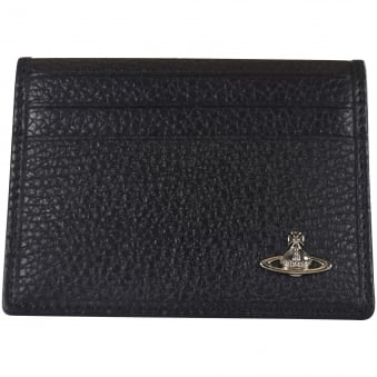 Vivienne Westwood Small Horizontal Card Holder In Black