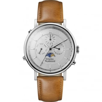 Vivienne Westwood Tan Portland Leather Watch