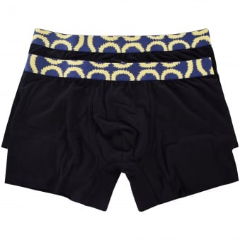 Vivienne Westwood Underwear 2 Pack Black Cotton Boxers