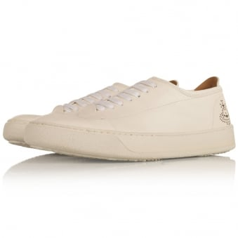 Vivienne Westwood White Leather Brogue Trainers