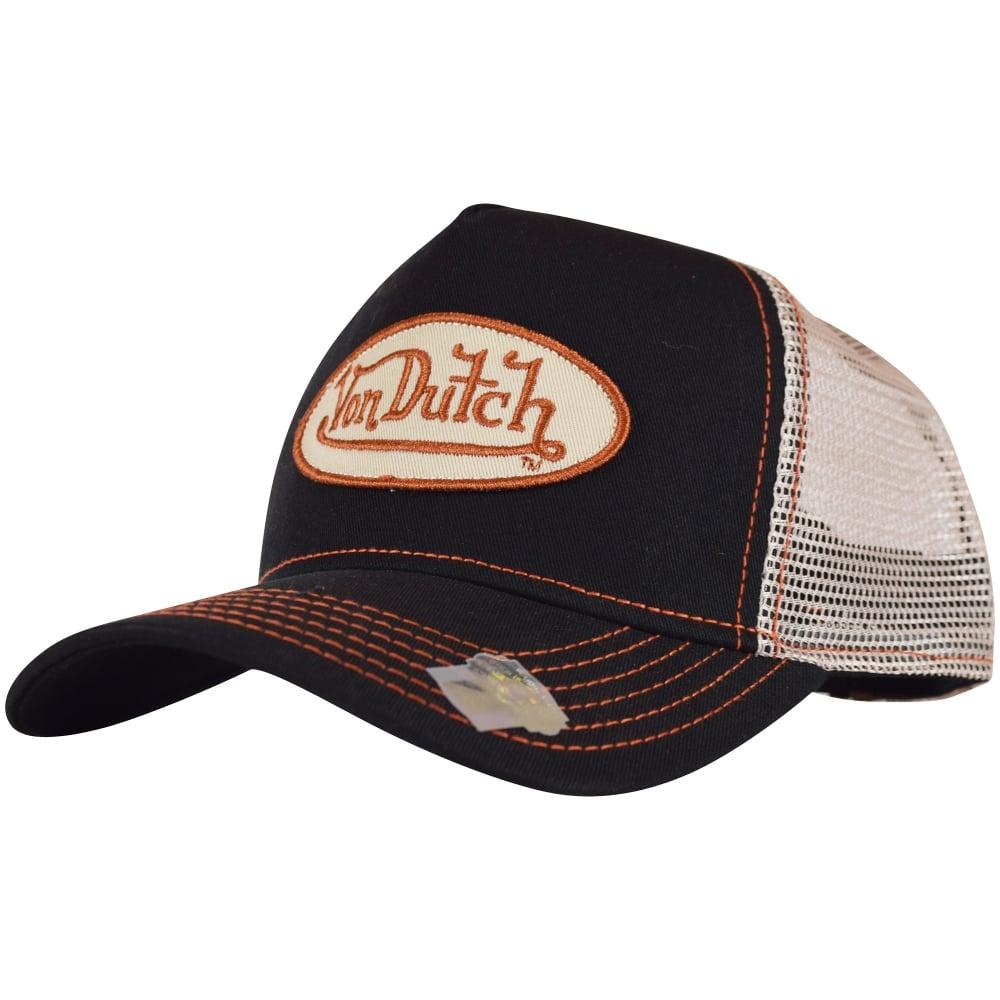 VON DUTCH Von Dutch Black Beige Mesh Trucker Cap - Men from ... 4bbb4c09424