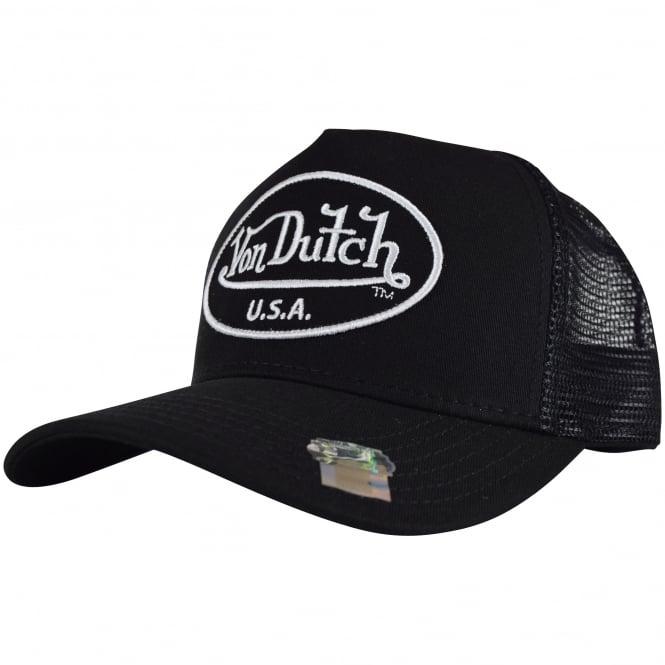 b473a34e03839 VON DUTCH Von Dutch Black Black Mesh Trucker Cap - Men from ...