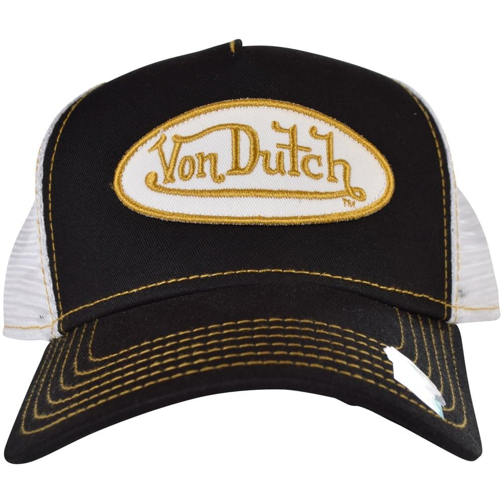 3a3ab2995 Von Dutch Black/White Mesh Trucker Cap