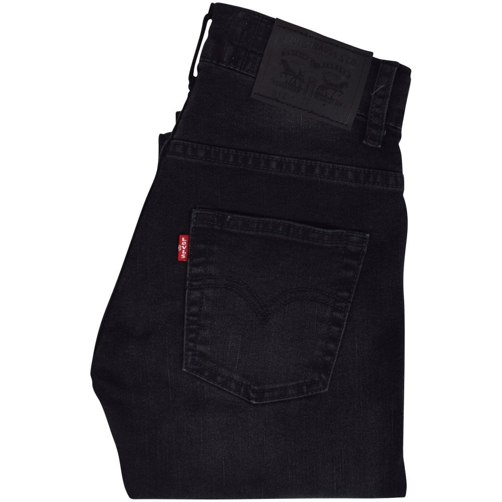0758f10f2ad LEVIS JUNIOR Washed Black 512 Slim Taper Jeans - Men from ...