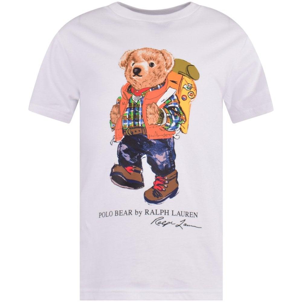 2d9a8744 POLO RALPH LAUREN JUNIOR White Bear Logo T-Shirt - Department from ...