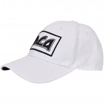 3cd109685bb White Black Logo Baseball Cap