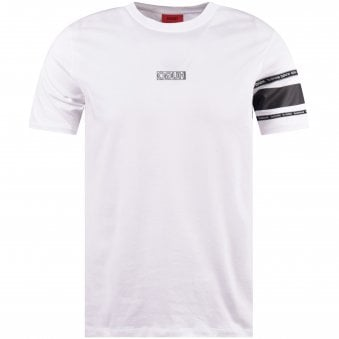 4949ebf3 White/Black Reverse Logo Panel T-Shirt