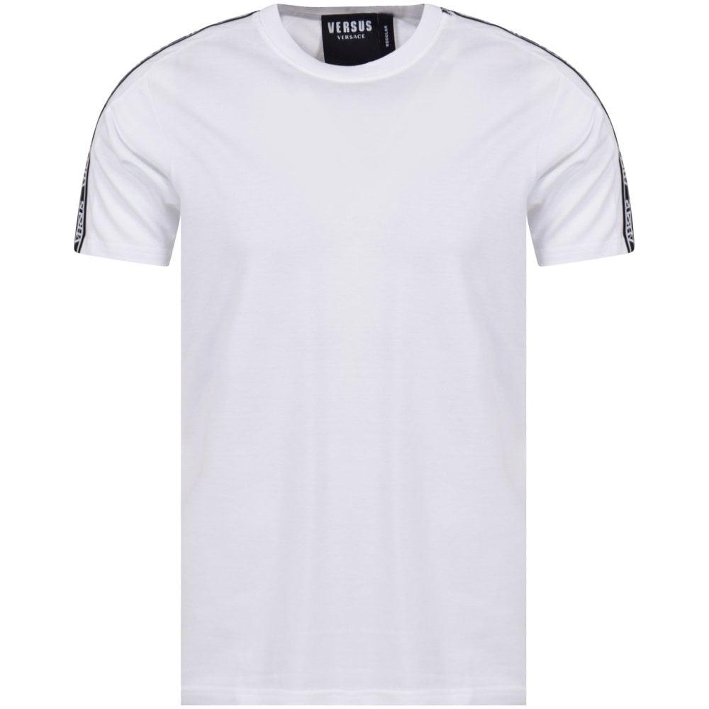 65c2e3ba VERSUS VERSACE White/Black Tape T-Shirt - T-Shirts from ...