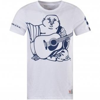 e31acf18 White/Blue Oversized Buddha T-Shirt. TRUE RELIGION ...