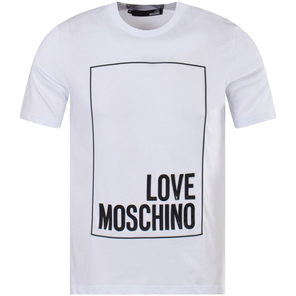 1e1849246533f LOVE MOSCHINO White Box Logo T-Shirt - Men from Brother2Brother UK