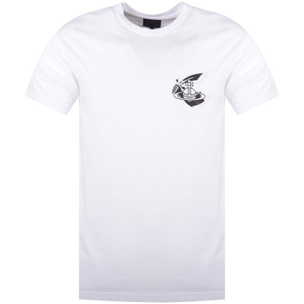 29d4fb05 VIVIENNE WESTWOOD White Boxy Small Arm & Cutlass Logo T-Shirt ...