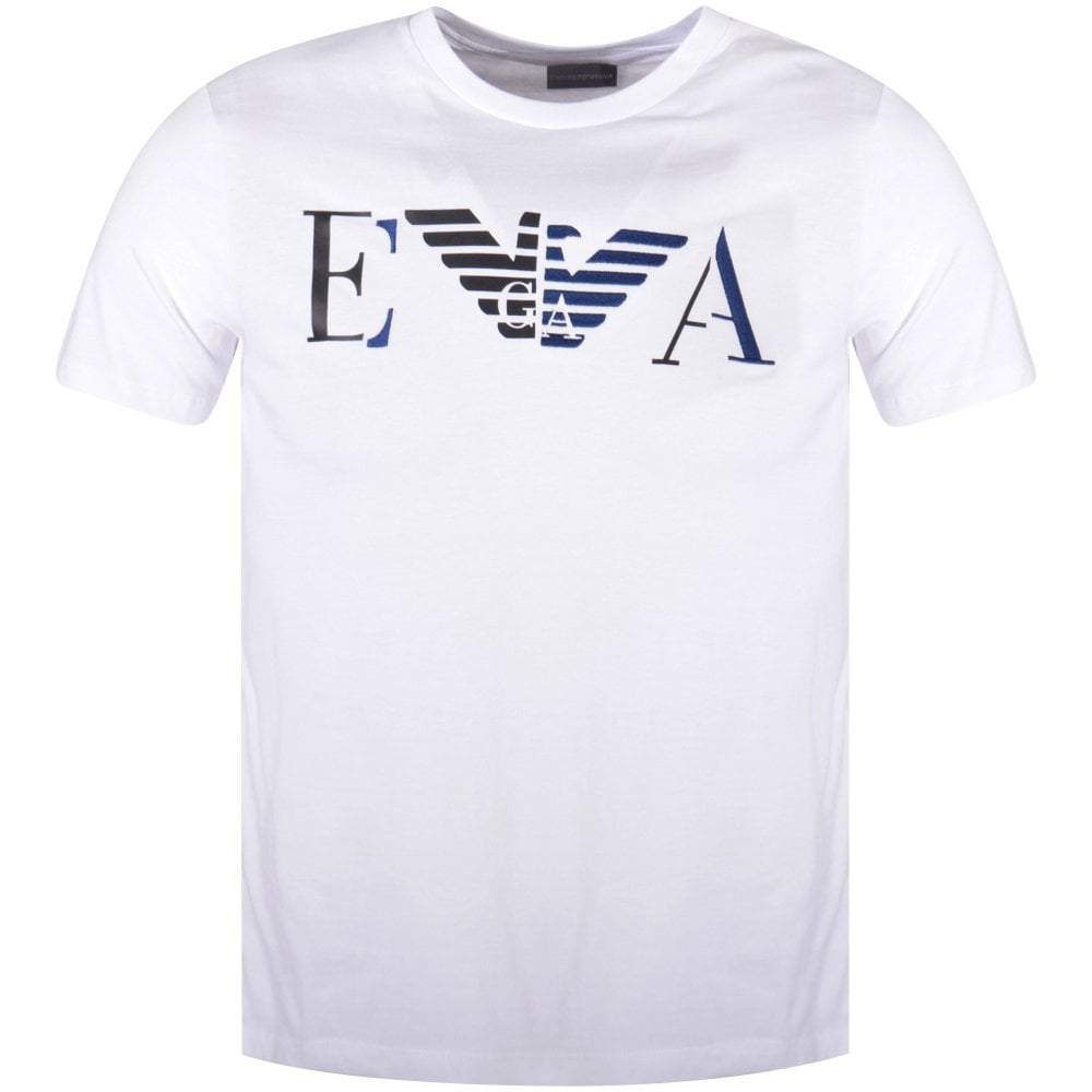 288dc942d10 EMPORIO ARMANI White Chest Logo T-Shirt - Men from Brother2Brother UK