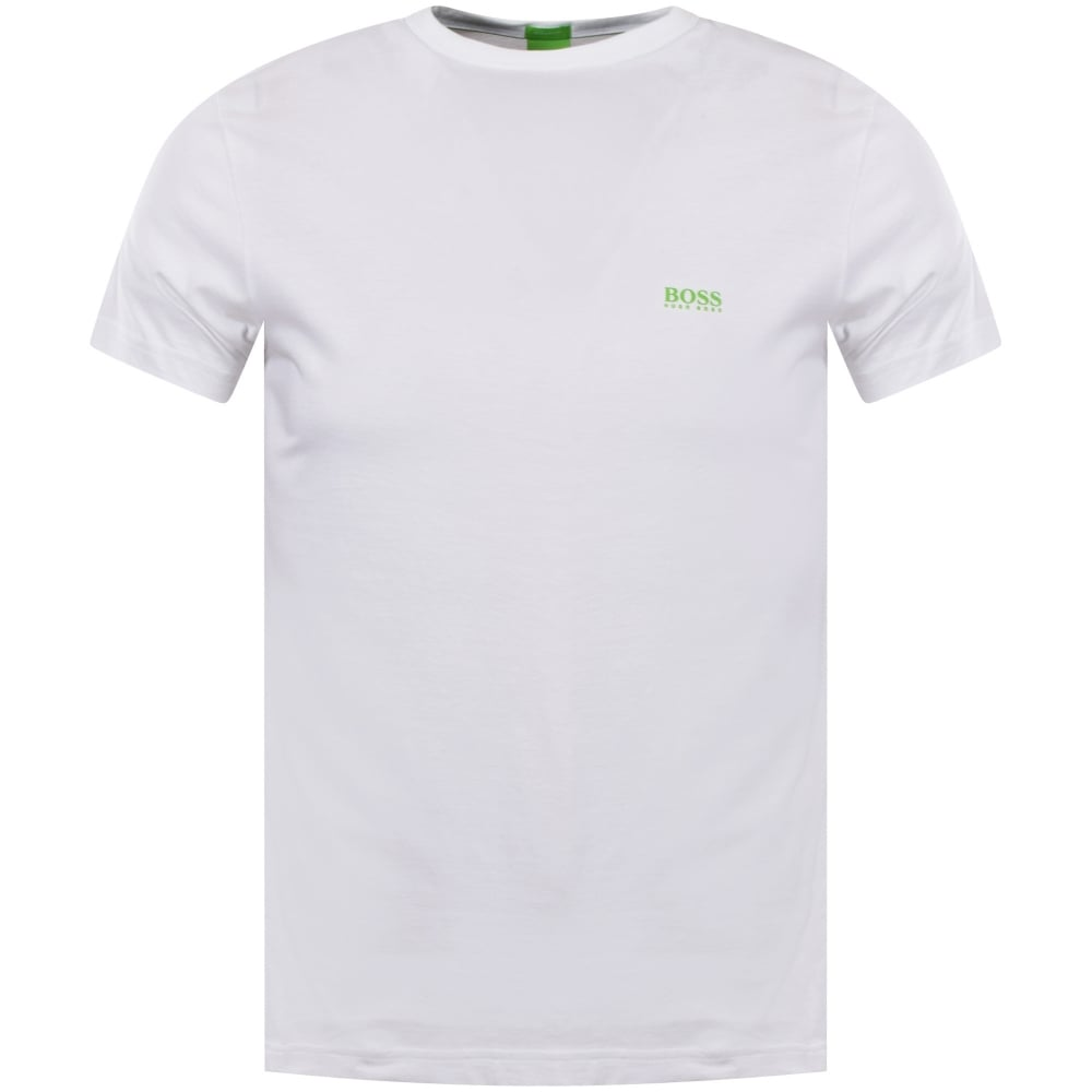 0211e7997 BOSS ATHLEISURE White Classic Logo Tee - Department from ...