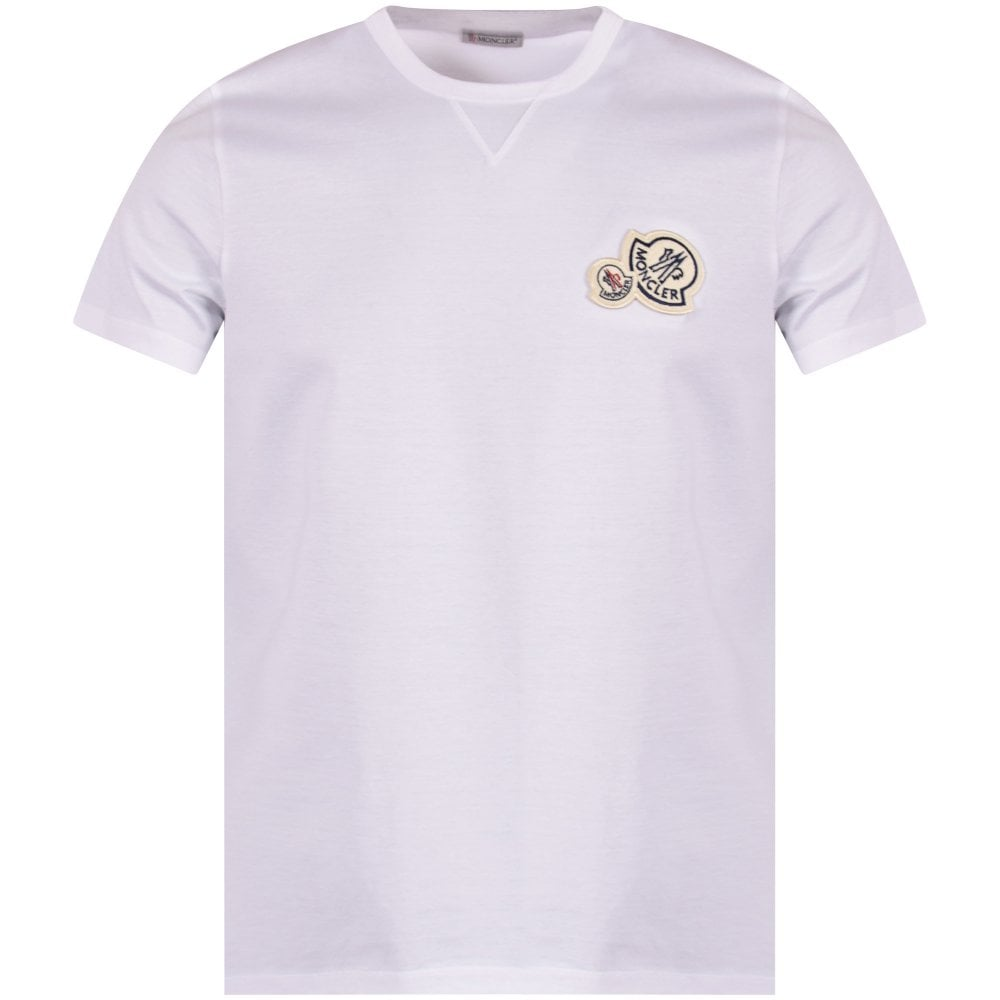 56fb1f8ab White Double Logo T-Shirt