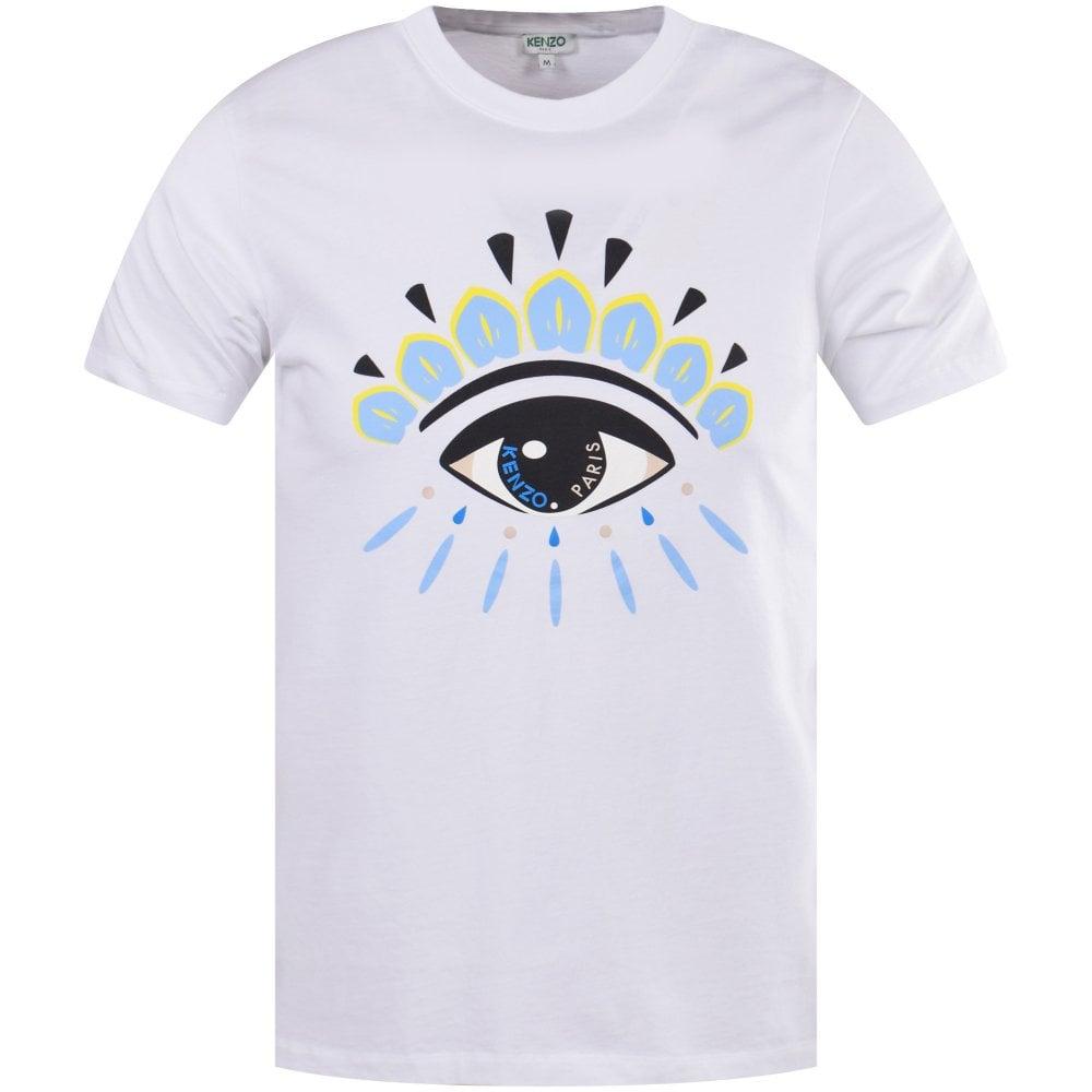 2b94e175cc57 KENZO White Eye Print T-Shirt - Men from Brother2Brother UK