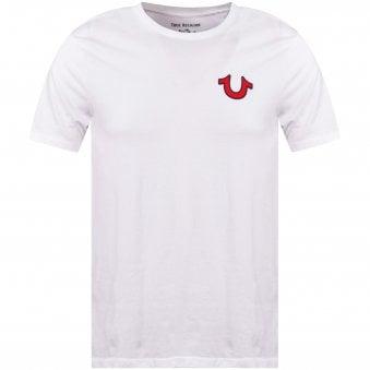 99613ca1 White Felt Buddha Logo T-Shirt. TRUE RELIGION ...