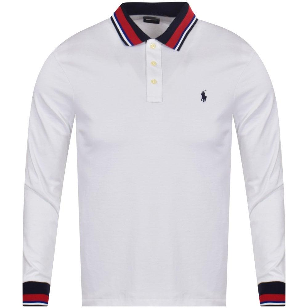 5acf2a4f White Long Sleeve Polo Shirt