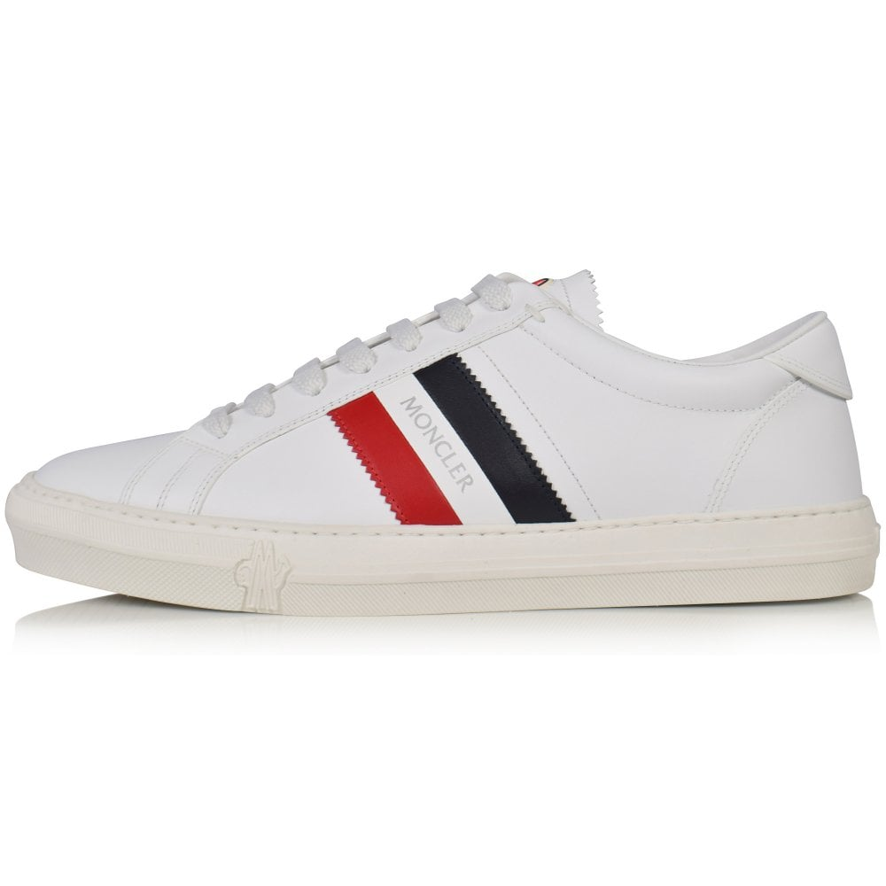 3963e4b1f MONCLER White Monaco Tricolour Leather Trainers - Men from ...