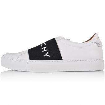 GIVENCHY White/Navy Elastic Low Trainers