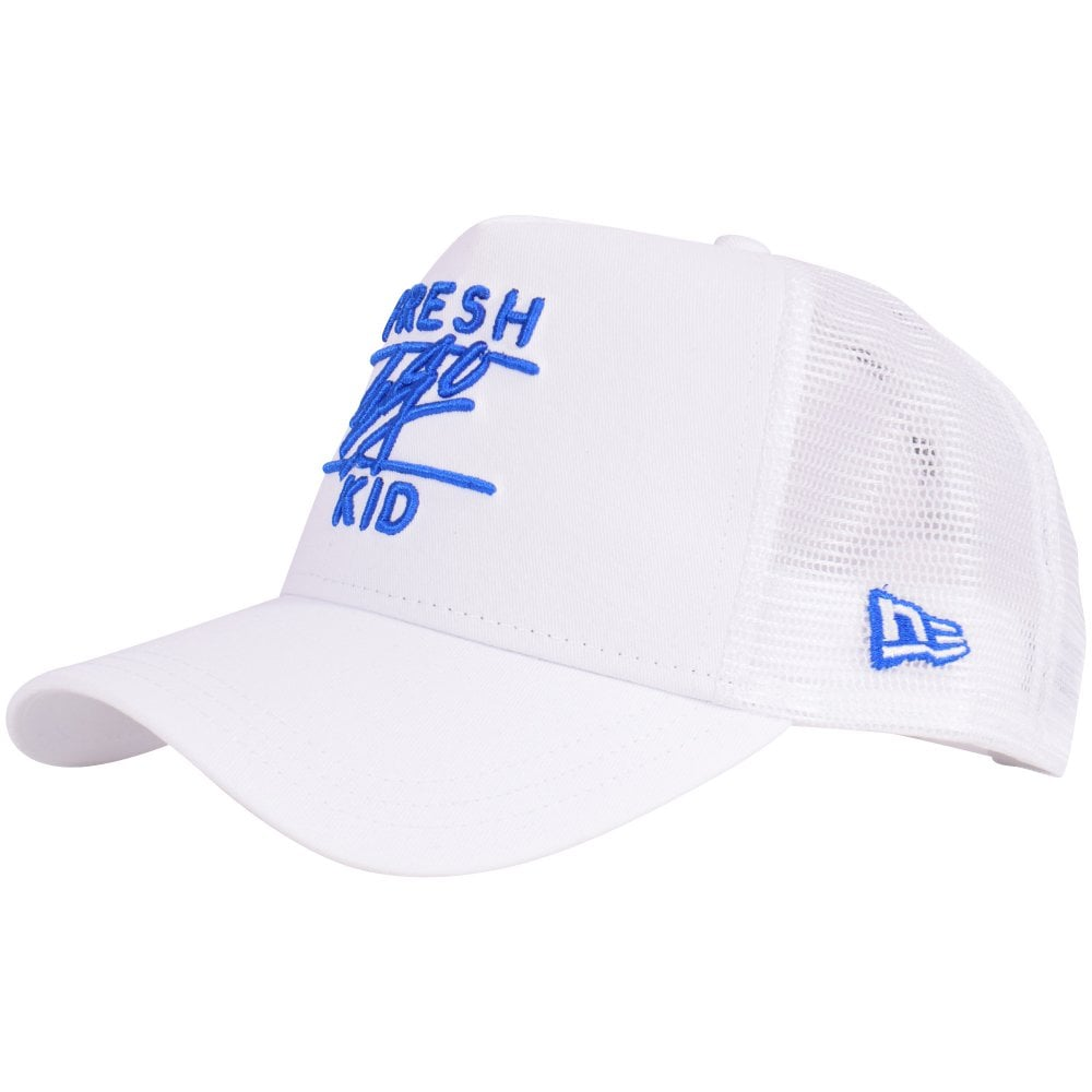 70969754a886b2 FRESH EGO KID White New Era Cap - Men from Brother2Brother UK