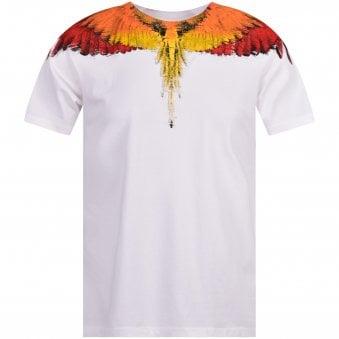 5bf270f9 White/Red Wings T-Shirt. MARCELO BURLON ...
