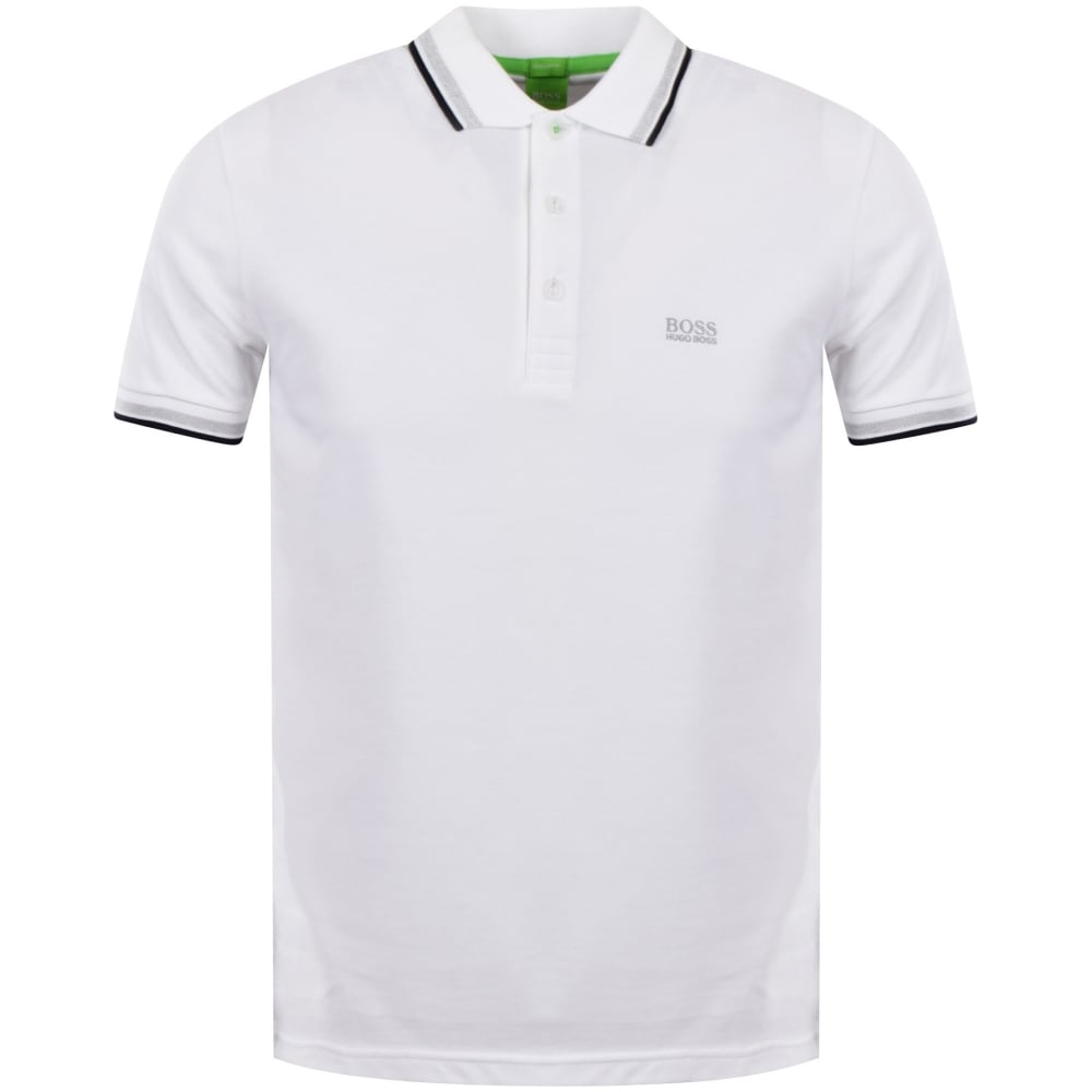 4b45115f BOSS ATHLEISURE White Short Sleeve Polo Shirt - Department from ...