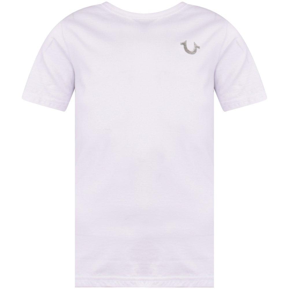 0850bb7e TRUE RELIGION JUNIOR White/Silver Horseshoe Logo T-shirt ...