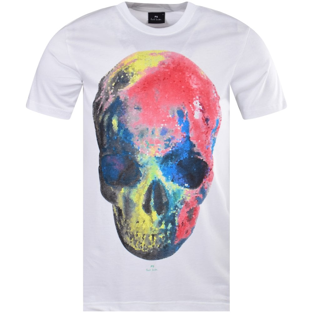 d0db9a2a303fb6 PS PAUL SMITH White Skull Print T-Shirt - Men from Brother2Brother UK