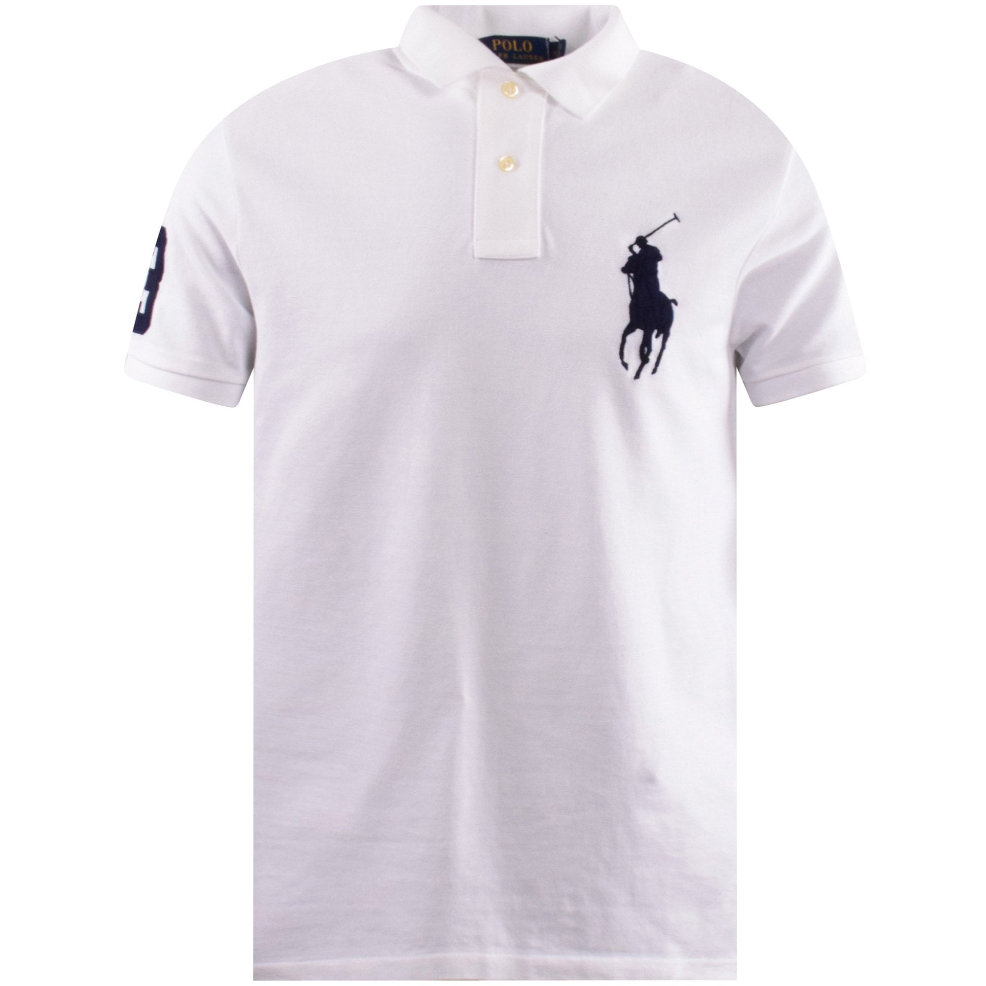 white polo shirt big pony
