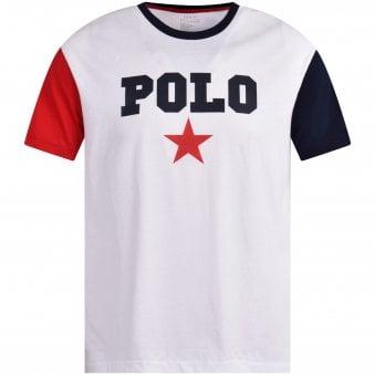 2b67358cd930a White Star Print T-Shirt · POLO RALPH LAUREN ...