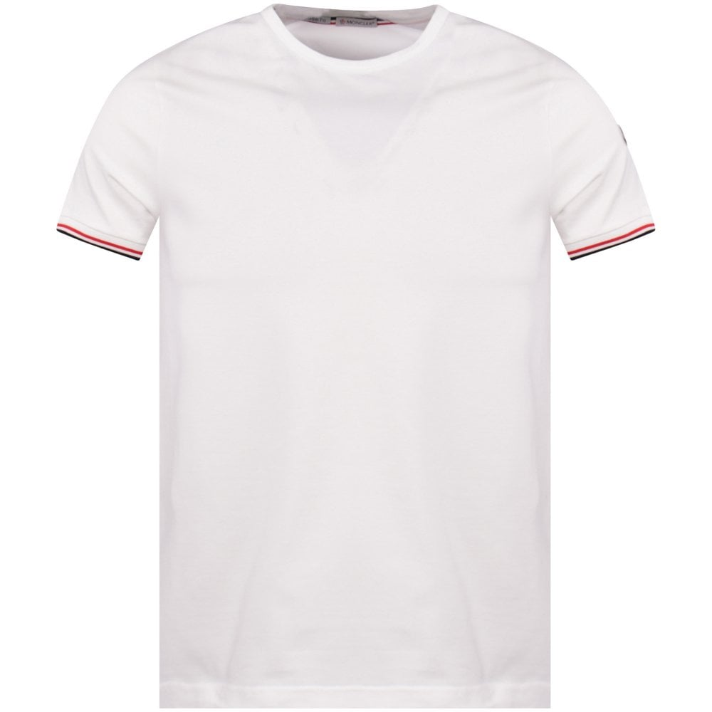 5048c8e17 White Striped Trim T-Shirt