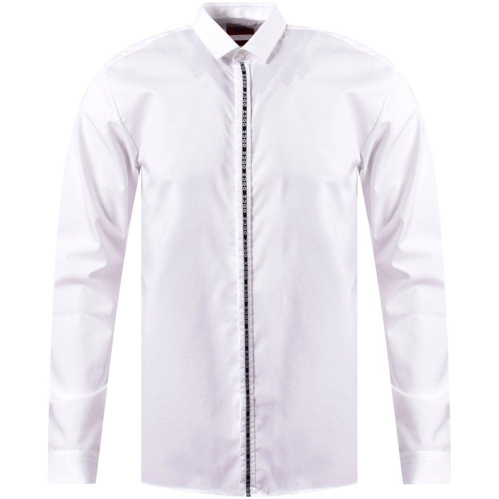 c3b96c78 HUGO White Tape Slim Shirt - Department from Brother2Brother UK