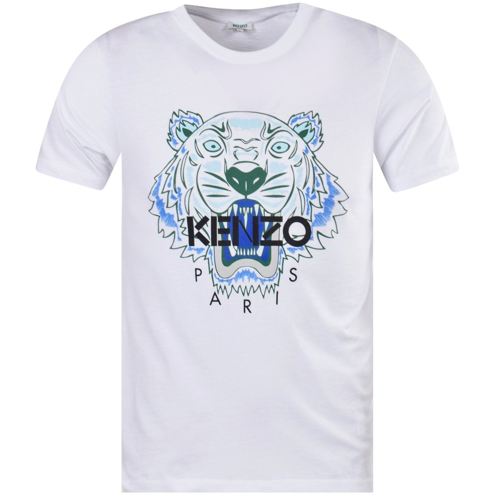 KENZO White Tiger Logo T-Shirt - Men from Brother2Brother UK 3662e9427d1