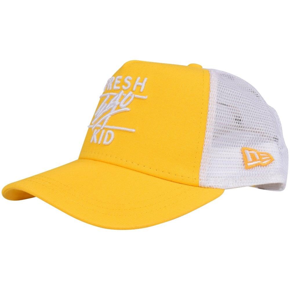 8ffdc9dbcba FRESH EGO KID Yellow/White Mesh Trucker Cap - Men from ...