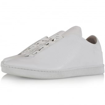 Ylati Footwear White Perforated Virgilio Low Trainers