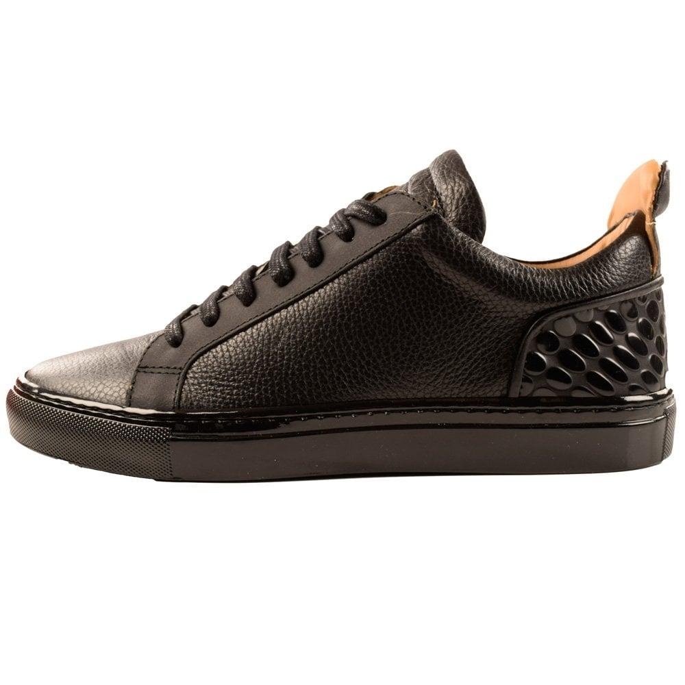 Chaussures Ylati Amalfi Baskets En Cuir Noir rdGdlG0u